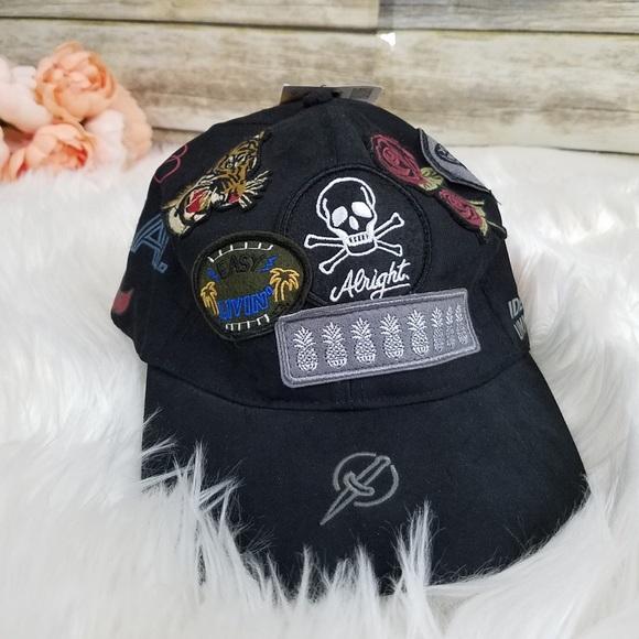 907ef96b6d1 NWT Zara Black Baseball Cap with Patches